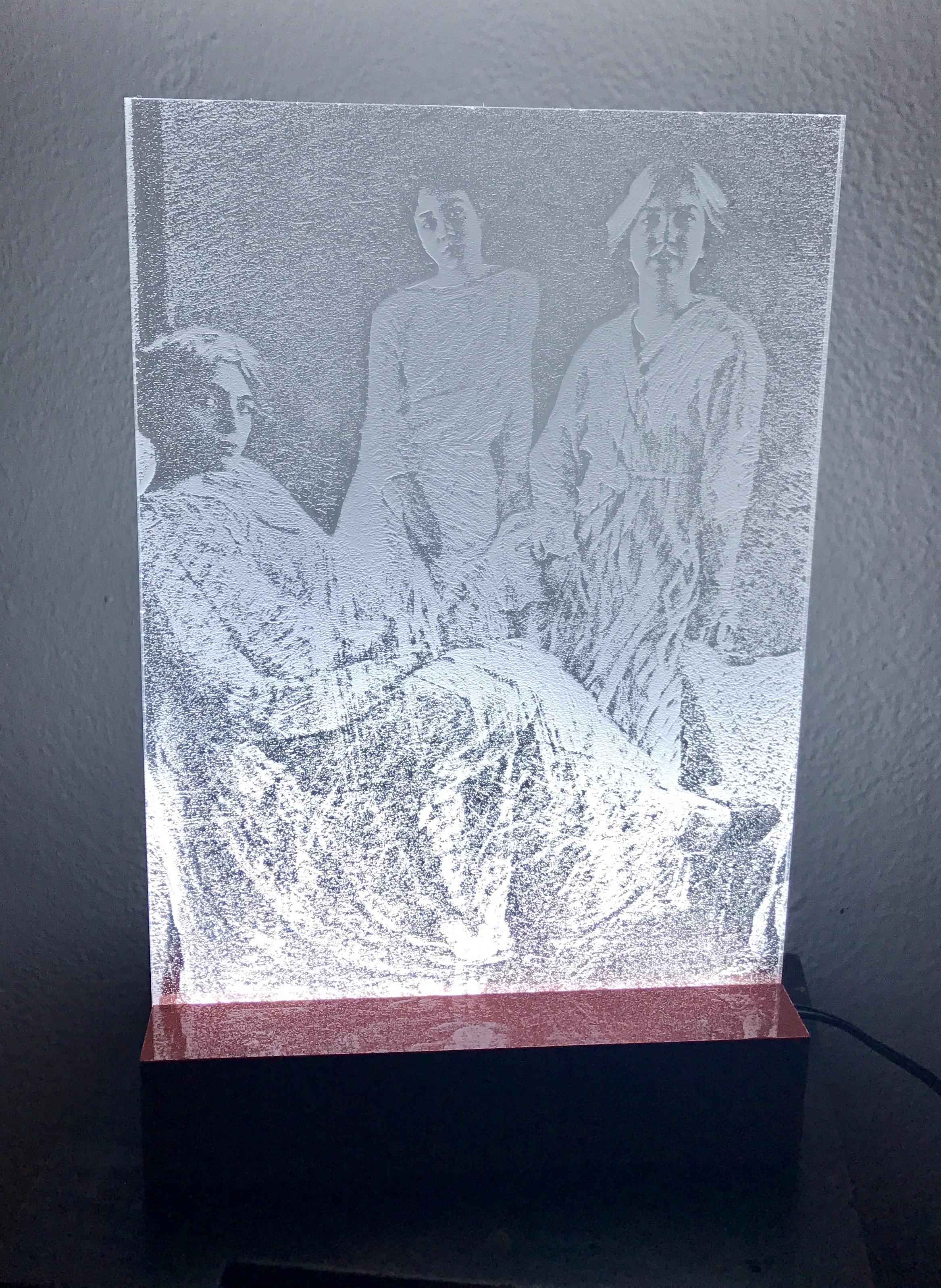 Lampada in plexiglass con led