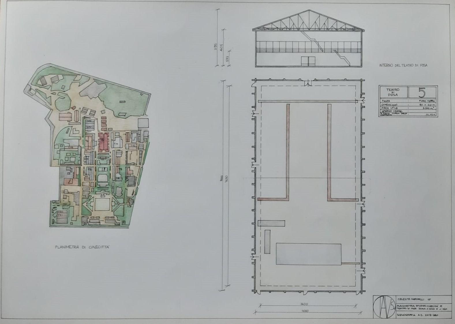 002-DIS-SCENOTECNICO-CELESTE-NARDELLI-5F-PROGETTO-CINEMA-TAV5-FILM-IL-GATTOPARDO-SCENE-IN-UN-TEATRO-DI-POSA-A-CINECITTA
