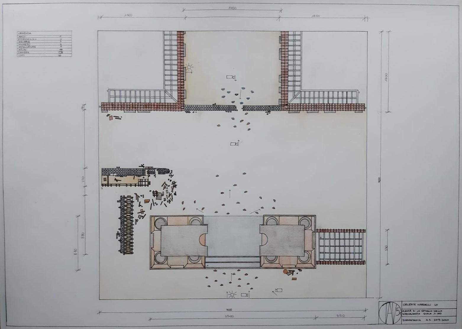 003-DIS-SCENOTECNICO-CELESTE-NARDELLI-5F-PROGETTO-CINEMA-TAV6-1-IL-GATTOPARDO-PIANTA-SCENA-GARIBALDINI-A-PALERMO-E-ASSALTO-DI-PORTA-TERMINI-1860